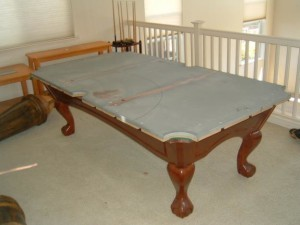 Proper pool table moving process in Carlsbad California